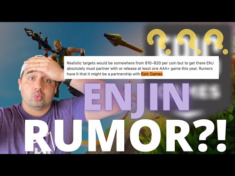ENJIN RUMOR - Possible Epic Games Partnership? Coinbase? [Watch Now]